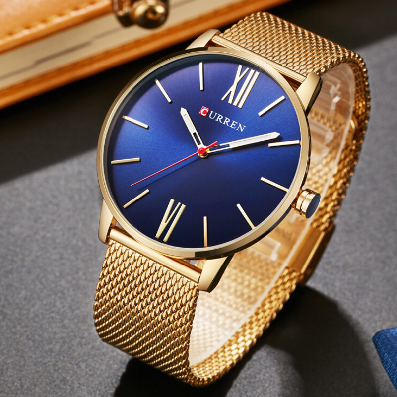 CURREN Luxury Gold Stainless Steel Sport Clock Men Wrist watch