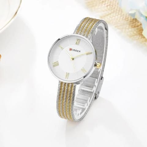 Curren Women's New Fashion Watch (Dial 3.0cm) – CUR 129 SILVER-GOLD
