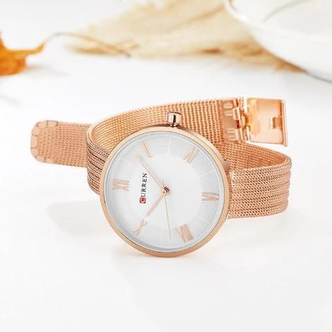 Curren Women's New Fashion Watch (Dial 3.0cm) – CUR 129 Copper