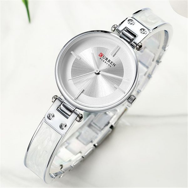 CURREN Stainless Steel Classic Wrist Watch – Silver