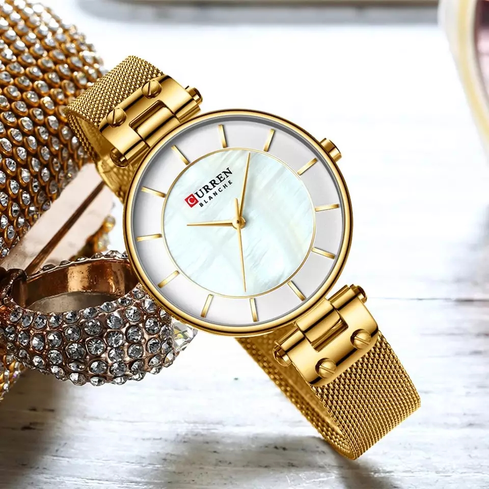 CURREN Creative Simple Quartz Watch – Golden