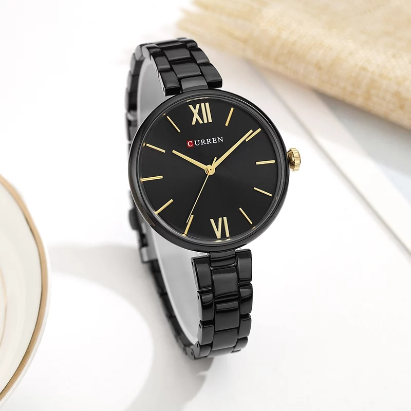 CURREN 9017 New Women Watches Luxury Brand Watch – Black