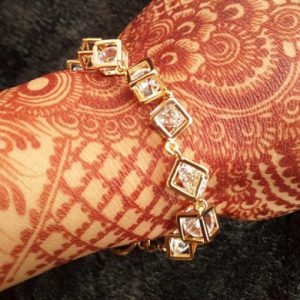 Womens Gold Plated Cubic Bracelet