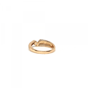 Beautiful Goldplated Cut Style Single Stone Ring