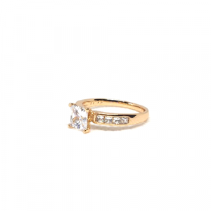 Beautiful Goldplated Square Crystals Ring 2(1100)