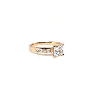 Beautiful Goldplated Square Crystals Ring