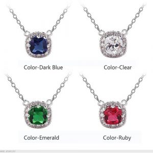 Beautiful Square Shape Pendant With Chain 1