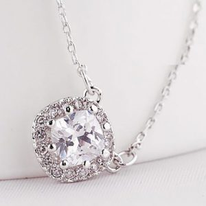 Beautiful Square Shape Pendant With Chain 3