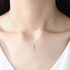 Beautiful Square Shape Pendant With Chain 4