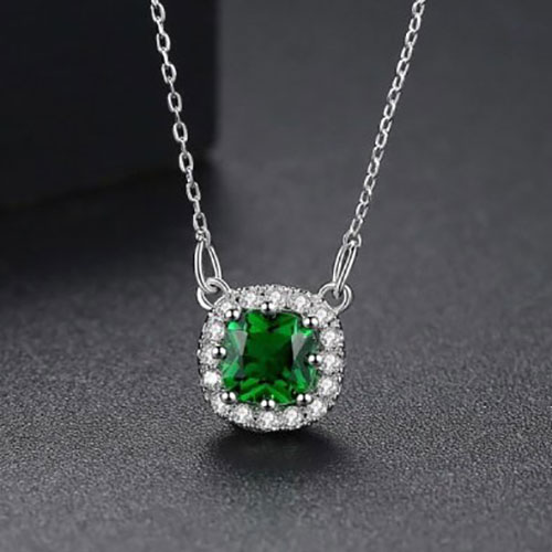 Beautiful Square Shape Pendant With Chain5