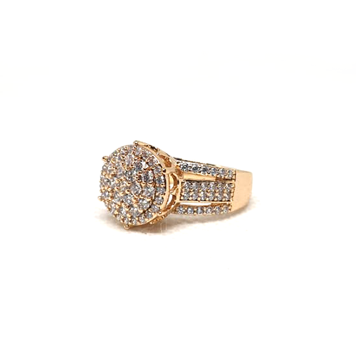 Creative GoldPlated Round Stones Ring 2