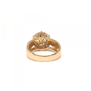 Creative GoldPlated Round Stones Ring 3