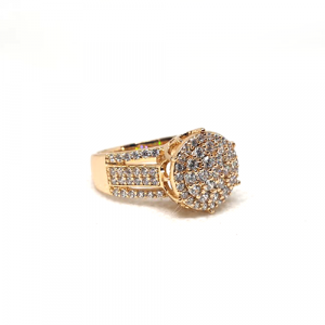 Creative GoldPlated Round Stones Ring