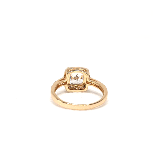 Crystal Square Stones Ring For Women 3