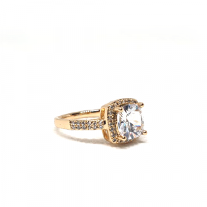 Crystal Square Stones Ring For Women
