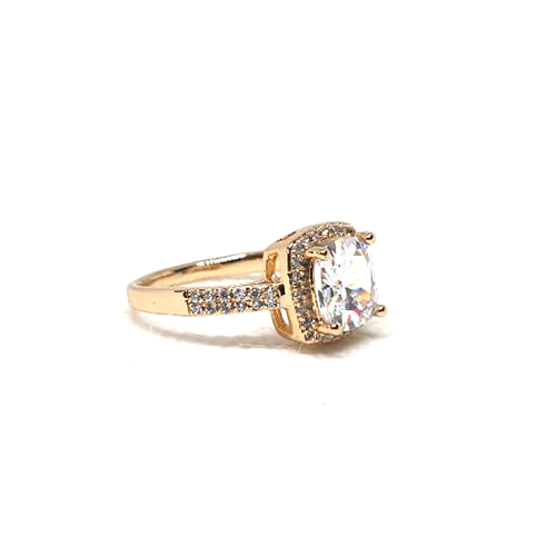 Crystal Square Style Goldplated Ring