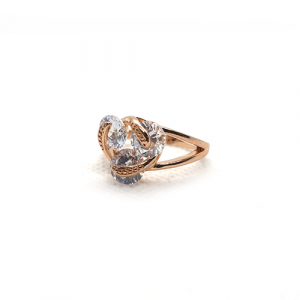 Cubic white Crystals Goldplated Ring 2(999)