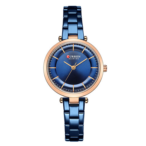 Curren Blue with Rose Gold Dial Watch For Women 6