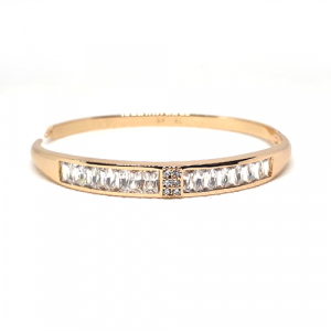 Elegant Crystals Goldplated Bangle Bracelet (2)(1650) (1)
