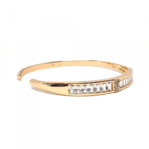 Elegant Crystals Goldplated Bangle Bracelet 3