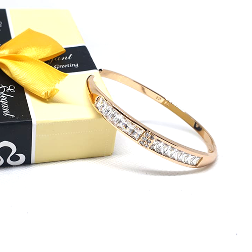 Elegant Crystals Goldplated Bangle Bracelet