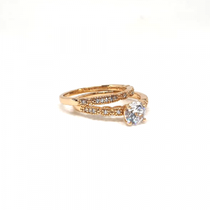 Elegant Goldplated Pair Stones Ring
