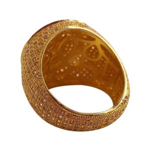 Eshaal GoldPlated Men Women Fashion Zircons Ring