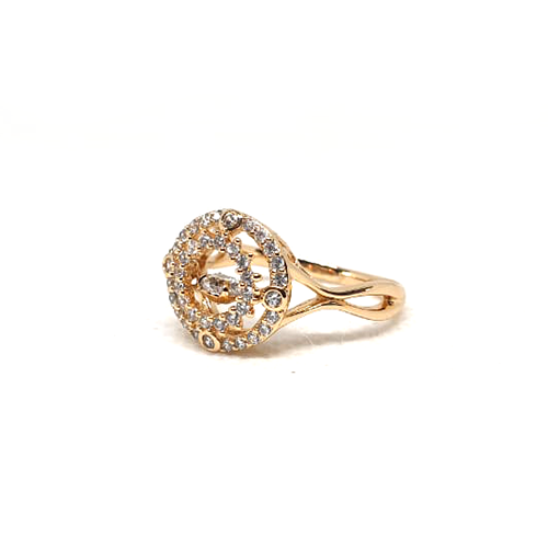 Fancy Stones Goldplated Curve Ring 2