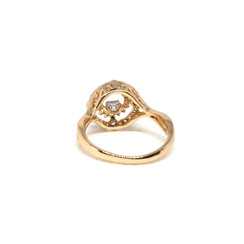 Fancy Stones Goldplated Curve Ring 3
