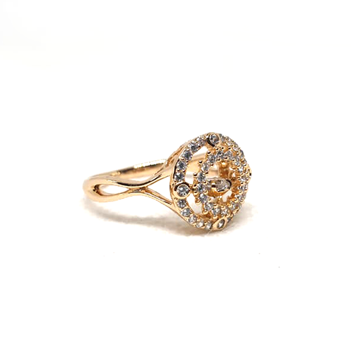 Fancy Stones Goldplated Curve Ring