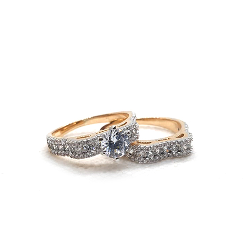 Gold Plated Crystal Pair Rings(1650)