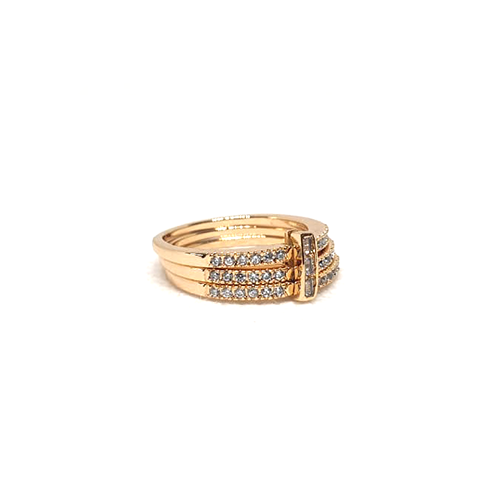 Goldplated 3 Lines Stones Ring (2)(1250)