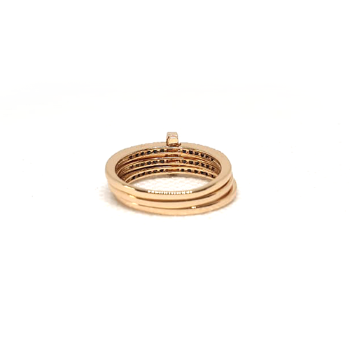 Goldplated 3 Lines Stones Ring 4