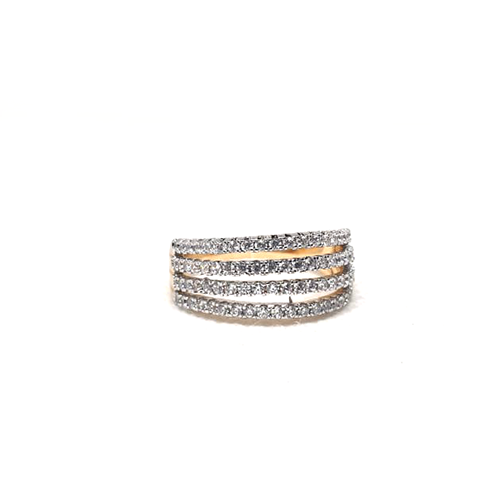 Goldplated 4 Lines Stones Ring 2 (1350)