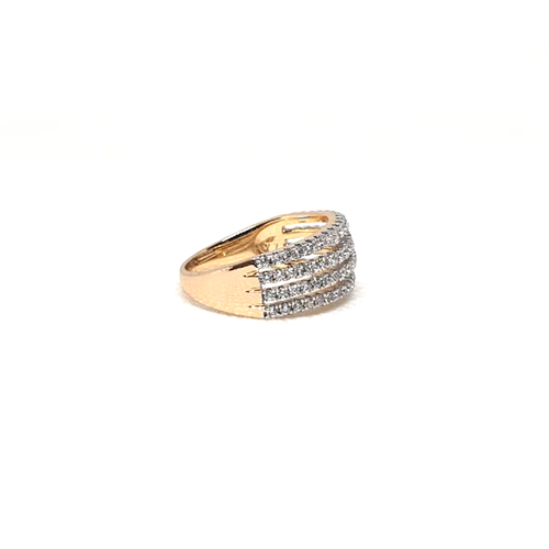 Goldplated 4 Lines Stones Ring 3