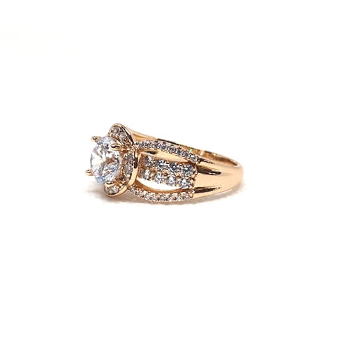 Goldplated Crystal Big Silver Stones Ring 2