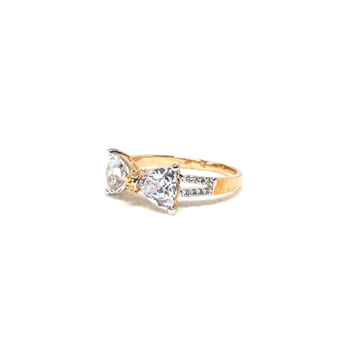 Goldplated Crystal Bow Style Ring3