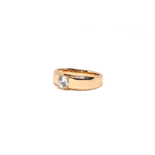 Goldplated Crystal Single Stone Goldplated Ring For Men And Women 2(1100)