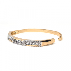 Goldplated Cubic Crystal Zircons Bangle Bracelet