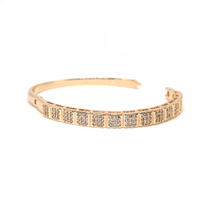 Goldplated Cubic Stones Bangle Bracelet