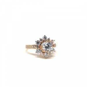 Goldplated Fancy Crystal Stone Ring (1250)