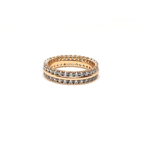 Goldplated Round Stones Ring 2
