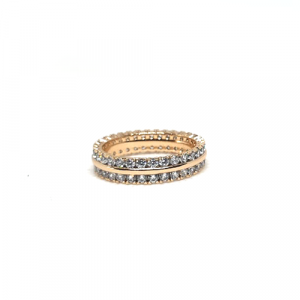 Goldplated Round Stones Ring