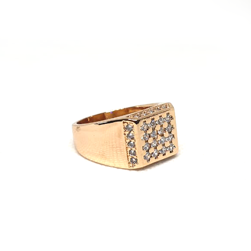 Goldplated Silver Stones Square Style Ring 2