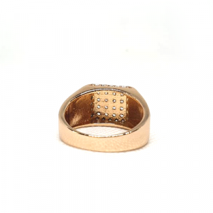 Goldplated Silver Stones Square Style Ring 3