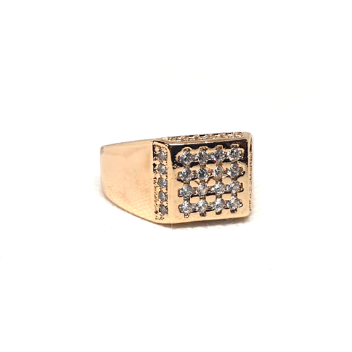 Goldplated Silver Stones Square Style Ring
