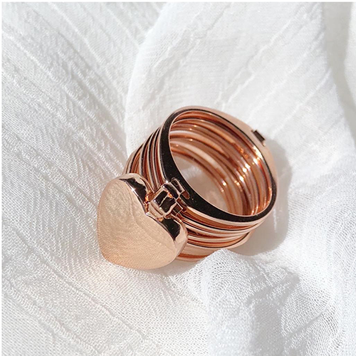 Retractable Rings With Hand Chain Magic Copper Dual Use For Women 2