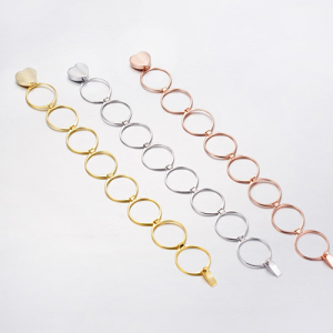 Retractable Rings With Hand Chain Magic Copper Dual Use For Women 4