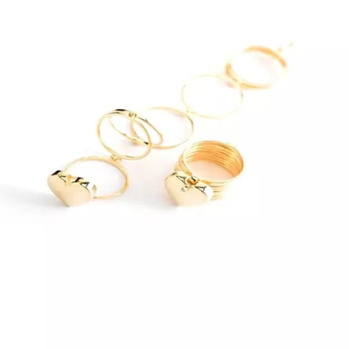 Retractable Rings With Hand Chain Magic Golden Dual Use For Women 2