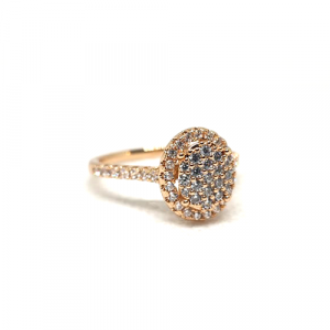 Round Stones Goldplated Ring 1